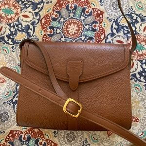 Auth BURBERRYS leather shoulder/ crossbody bag